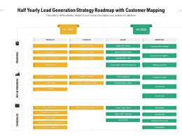Half Yearly Lead Generation Strategy Roadmap With Customer Mapping