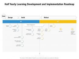 Half Yearly Learning Development And Implementation Roadmap
