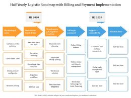 Half Yearly Logistic Roadmap With Billing And Payment Implementation