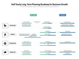 Half Yearly Long Term Planning Roadmap For Business Growth