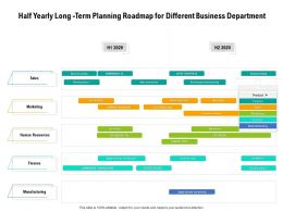 Half Yearly Long Term Planning Roadmap For Different Business Department