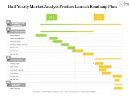 Half Yearly Market Analyst Product Launch Roadmap Plan