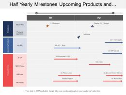 Half Yearly Milestones Upcoming Products And Family Portfolio Timeline