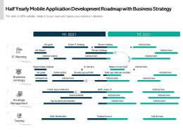 Half Yearly Mobile Application Development Roadmap With Business Strategy