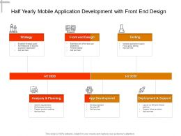 Half Yearly Mobile Application Development With Front End Design