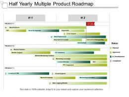 Half Yearly Multiple Product Roadmap