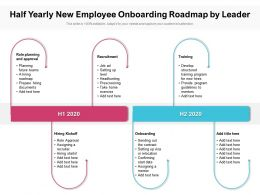 Half Yearly New Employee Onboarding Roadmap By Leader