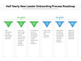 Half Yearly New Leader Onboarding Process Roadmap