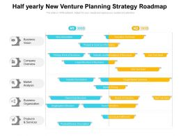 Half Yearly New Venture Planning Strategy Roadmap