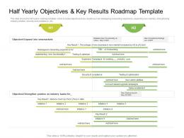 Half Yearly Objectives And Key Results Roadmap Timeline Powerpoint Template