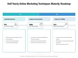 Half Yearly Online Marketing Techniques Maturity Roadmap