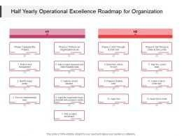 Half Yearly Operational Excellence Roadmap For Organization