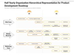Half Yearly Organization Hierarchical Representation For Product Development Roadmap