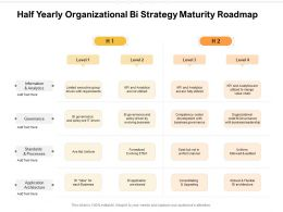 Half Yearly Organizational Bi Strategy Maturity Roadmap