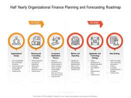 Half Yearly Organizational Finance Planning And Forecasting Roadmap