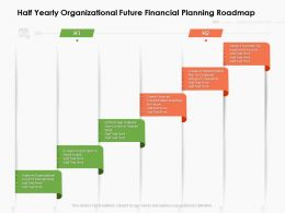 Half Yearly Organizational Future Financial Planning Roadmap