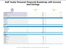Half Yearly Personal Financial Roadmap With Income And Savings