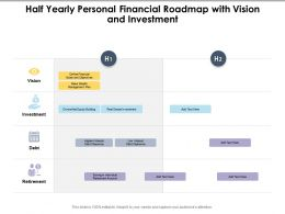 Half Yearly Personal Financial Roadmap With Vision And Investment