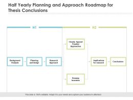Half Yearly Planning And Approach Roadmap For Thesis Conclusions