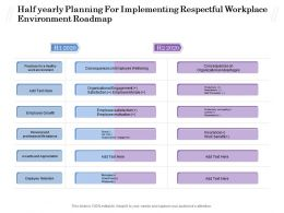 Half Yearly Planning For Implementing Respectful Workplace Environment Roadmap