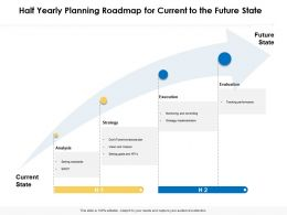 Half Yearly Planning Roadmap For Current To The Future State