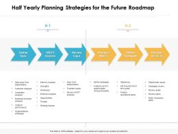 Half Yearly Planning Strategies For The Future Roadmap