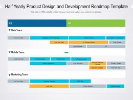 Half Yearly Product Design And Development Roadmap Template