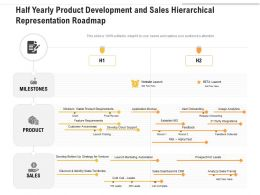 Half Yearly Product Development And Sales Hierarchical Representation Roadmap