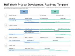 Half Yearly Product Development Roadmap Timeline Powerpoint Template