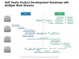 Half Yearly Product Development Roadmap With Multiple Work Streams