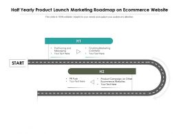 Half Yearly Product Launch Marketing Roadmap On Ecommerce Website