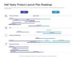 Half Yearly Product Launch Plan Roadmap Timeline Powerpoint Template