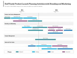 Half Yearly Product Launch Planning Activities With Branding And Marketing