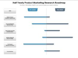 Half Yearly Product Marketing Research Roadmap