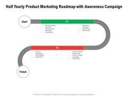 Half Yearly Product Marketing Roadmap With Awareness Campaign