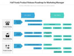 Half Yearly Product Release Roadmap For Marketing Manager