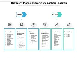 Half Yearly Product Research And Analysis Roadmap