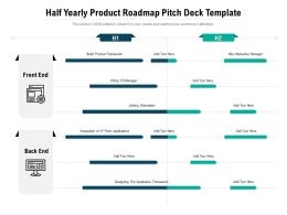 Half Yearly Product Roadmap Pitch Deck Template