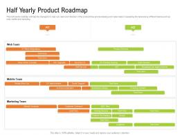 Half Yearly Product Roadmap Timeline Powerpoint Template