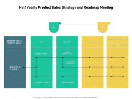 Half Yearly Product Sales Strategy And Roadmap Meeting