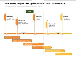 Half Yearly Project Management Task To Do List Roadmap