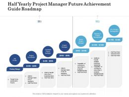 Half Yearly Project Manager Future Achievement Guide Roadmap
