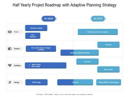 Half Yearly Project Roadmap With Adaptive Planning Strategy