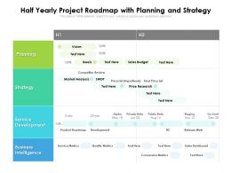 Half Yearly Project Roadmap With Planning And Strategy
