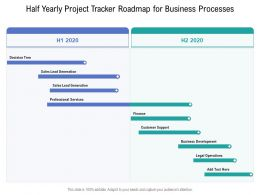 Half Yearly Project Tracker Roadmap For Business Processes