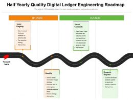 Half Yearly Quality Digital Ledger Engineering Roadmap