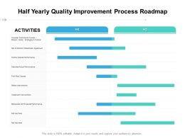 Half Yearly Quality Improvement Process Roadmap
