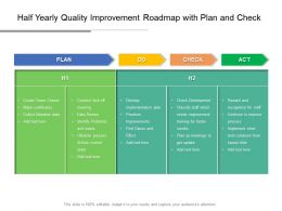 Half Yearly Quality Improvement Roadmap With Plan And Check