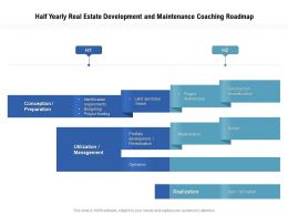 Half Yearly Real Estate Development And Maintenance Coaching Roadmap