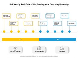 Half Yearly Real Estate Site Development Coaching Roadmap